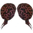 bandana zwart zandana cherries kersen zomer