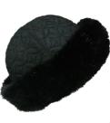 zwart bonthoedje imitatie dames hoed winterhoed