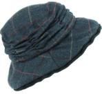 Hawkins-mooie-dames-cloche-tweed-hoed-kleur-donkerblauw