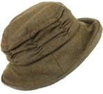 Hawkins-mooie-dames-cloche-tweed-hoed-kleur-bruin-camel