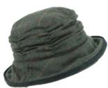 Hawkins-mooie-dames-cloche-tweed-hoed-kleur-groen