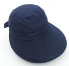 zonneklep klep dames blauw uv-protectie