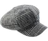 zwart wit geruite baret