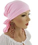 chemo hoofddoekje rose