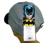 Kids jongenspet Batman katoenen cap kleur grijs_