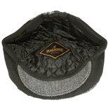 Mooie gevoerde patchwork herenpet winterpet kleur zwart_