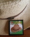 leren hoedband naturel lichte hoed zomerhoed