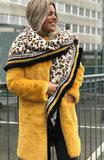 luipaardprint dierprint sjaal wintersjaal dames