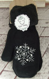 zwart warm winter