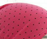 Chemo haarverlies basismuts slaapmuts koraalkleur met stipjes_
