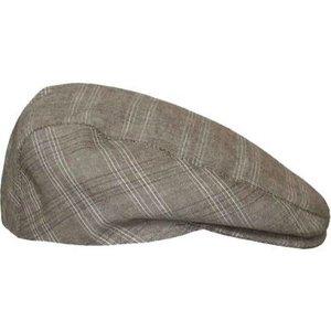 flatcap herenpet platte pet ruitje