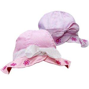 babyhoedje roze paars 0-9 maand