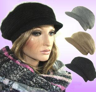 ***WINTERACTIE*** Winter warm dames baretje met kort klepje
