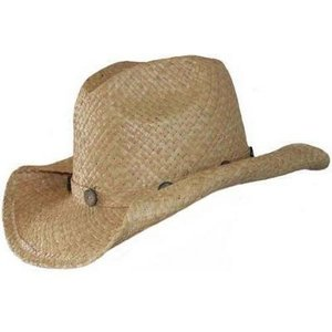 Fashion cowboyhoed Raffia stro naturel