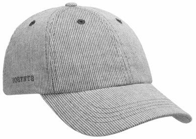 stetson gestreepte baseball cap katoen katoenen