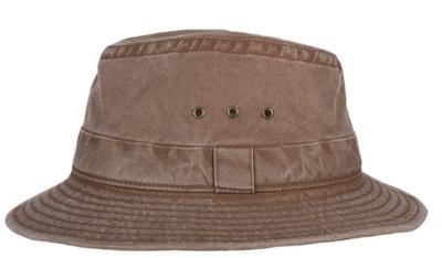 hatland tennant katoenen hoed herenhoed zomerhoed bruin