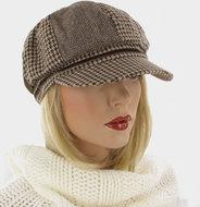 LEANNE-Leuke-bruin-met-beige-patchwork-damesbaret