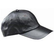 stetson joes zwarte leren baseball cap