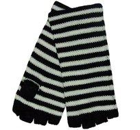 vingerloze handschoenen streepje zwart wit