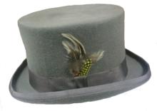 hoge hoed herenhoed grijs