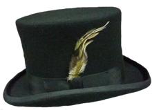 trouwhoed hoge hoed zwart herenhoed wol
