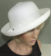 witte dames zomerhoed zonnehoed