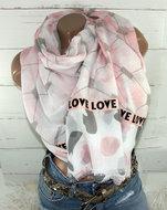 sjaal roze love