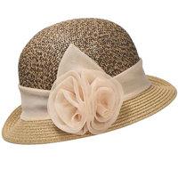 cloche beige bruin hoed hoedje