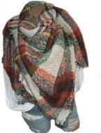 sjaal ofwhite terra groen wolwit