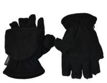 thinsulate vingerloze handschoenen fleece zwart