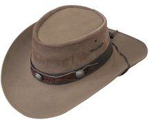 westernhoed outdoorhoed leren hoed cowboyhoed bruin
