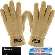fleece beige handschoenen