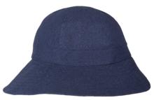 dameshoed opvouwbaar oprolbaar uv protectie zonbescherming blauw navy